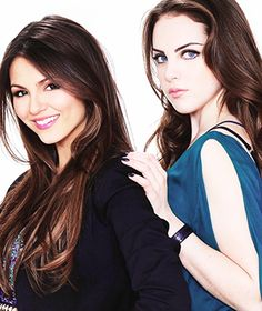 (Jori - Jade and Tori Vega). VICTORIA JUSTICE & ELIZABETH GILLIES.TWO VERY PRETTY GIRLS. ILIKE THEM. Sal Peyton