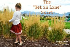 Simple Simon and Company: The Get in Line Skirt or How to Sew Some Yarn onto a Skirt