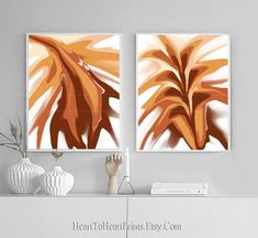 Abstract Artwork Set of 2 Prints Abstract Painting Printable | Etsy