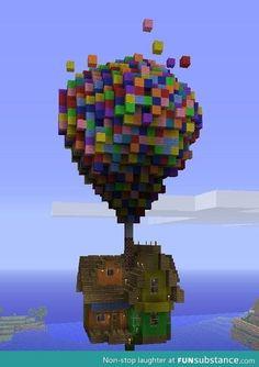 Minecraft up house