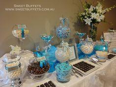 Aqua Blue and White Lolly Buffet Full Shot, via Flickr.