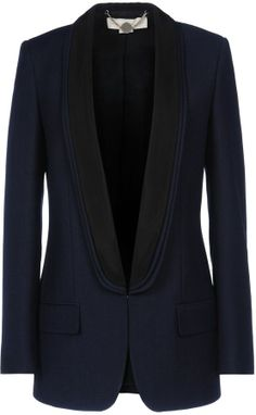 ee6f58b0bf13 Saint Laurent ICONIC LE SMOKING JACKET WITH SATIN LAPEL IN BLACK ...