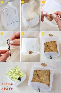 Milk Jug Lunch Box - #diy, #lunchbox
