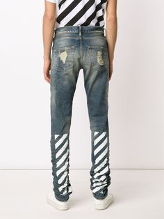Off-White ripped slim jeans