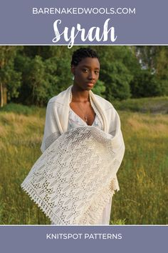 This light and breezy rectangle in two sizes (scarf/stole), is begun on a provisional cast on and worked from the center back to hem in a series of patterns that progresses from solid to more open and lacy. Trellis, vine, and leaf motifs tell the story of the vineyard as harvest time nears, forming a fabric that invites the autumn light to filter through. Provisional Cast On, Lace Knitting Patterns, Autumn Lights, Wedding Shawl, Harvest Time, Trellis, Invites, Vineyard, Filter