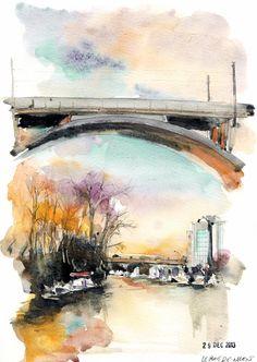 Urban Sketchers Paris: Au bout de ma rue...