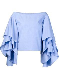 Shop Rosie Assoulin ruffled sleeve top in Kirna Zabête from the world's best independent boutiques at farfetch.com. Shop 300 boutiques at one address.
