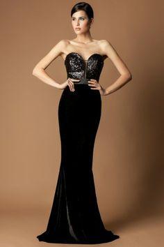velvet black dress