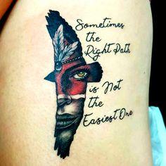 Tattoodo - Thigh tattoo, native American and eagle - Native Feather Tattoos, Cherokee Tribal Tattoos, Native American Feather Tattoo, Native Indian Tattoos, American Indian Tattoos, Indian Women Tattoo, Tribal Tattoos For Women, Indian Tattoo Design, Manga Tribal