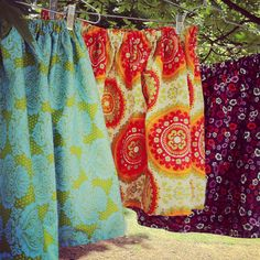 Cotton knee length skirts in custom fabrics!