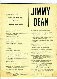 James Dean- Fact sheet -Favorites