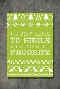 Smiling's My Favorite 5x7 Graphic Print  Digital by emilyarcher, $5.00