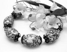 Black and White Bracelet  Chunky Bracelet  by MyGemstoneDesigns, $35.00