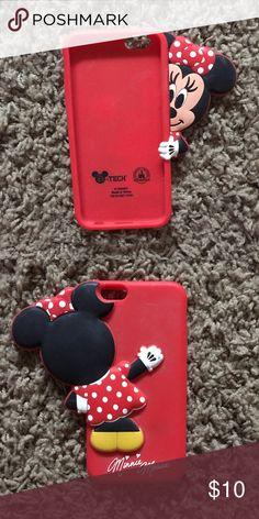 iPhone 6 Minnie Mouse phone case Disney phone case! Super cute!! Disney Accessories Phone Cases
