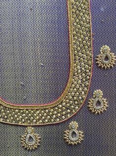 Wedding Saree Blouse Designs, Pattu Saree Blouse Designs, Blouse Designs Silk, Designer Blouse Patterns, Hand Work Blouse Design, Simple Blouse Designs, Magam Work Blouses, South Indian Blouse Designs, Maggam Work Designs