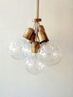 Handgefertigte Anhänger Licht Kronleuchter Edison von LightCookie