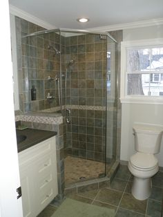 Custom bathroom remodels on pinterest small condo tile for Condo bathroom remodel ideas