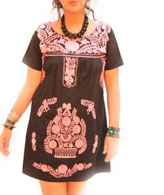 Night Rose Mexican bohemian ethnic embroidered by AidaCoronado, $147.00
