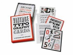 Vintage Typography Cards  Price: $14.95