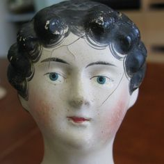 Beautiful Antique Early Paper Mache Milliners Model Doll With BUN AND Comb | eBay