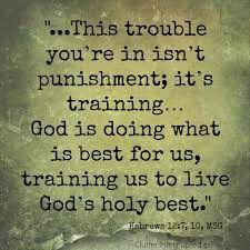 He disciplines us.