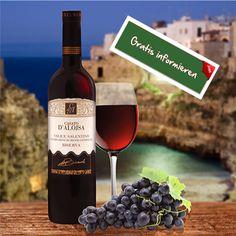 Auf dem Ton- und Sandboden von Apulien gedeihen die Rebstöcke für diesen Rotwein! Hier klicken: http://blogde.rohinie.com/2013/01/rotwein/ #Italien #Apulien #Rotwein #Lammbraten Auberginengerichte