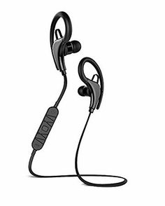 wireless earbuds headphones with microphone and sports headphones on pinterest. Black Bedroom Furniture Sets. Home Design Ideas