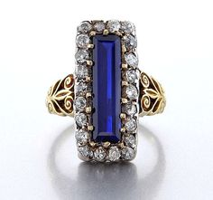 "Reserved...Victorian, 19th century GIA ""NO HEAT"" 3.05ct Blue Kashmir Sapphire and Old Mine cut Diamond Ring, circa 1880 18k Gold by TreasurlybyDima on Etsy https://www.etsy.com/listing/198058265/reservedvictorian-19th-century-gia-no"