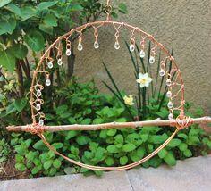 Dewdrops in the garden-hummingbird swing by Moonbird Designs