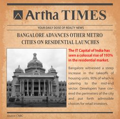 #PropertyNews: #Bangalore beats other metro #cities on residential launches.  Bangalore witnessed a steep increase in the takeoffs of housing units, 90% of which is catering to the mid-end sector. Developers have covered the perimeters of the city and put forth admissible choices for retail investors.