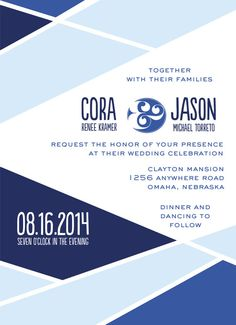 Cora Collection Blues Invitation Set for by lovelylittleparty