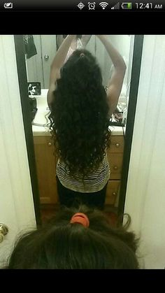 Curled long hairstyle