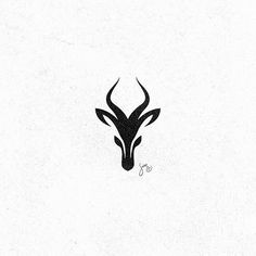 Gazelle by @mr.simc - LEARN LOGO DESIGN @learnlogodesign @learnlogodesign - Want to be featured next? Follow us and tag #logoinspirations in your post