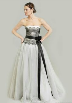 Black and white wedding dress!