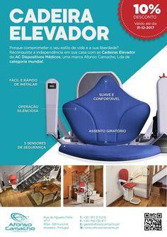 Cadeira  elevador de escada para residência. Temos soluções para pessoas idosas com mobilidade reduzida para o interior e exterior, consulte os nossos preços.