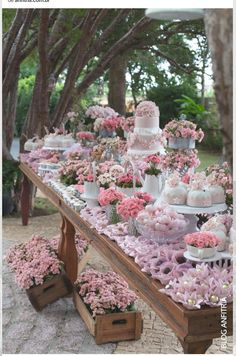 Vintage To Modern Wedding Dessert Table Ideas ❤ See more: www. ideas party events simple 42 Wedding Dessert Table Ideas For Every Theme Candybar Wedding, Wedding Desserts, Wedding Decorations, Table Decorations, Wedding Cakes, Wedding Dessert Buffet, Wedding Centerpieces, Vintage Centerpieces, Tall Centerpiece