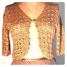 Gold Glittering Cover Up. Evening Gold Loop Shawl with 4 Wearing ...