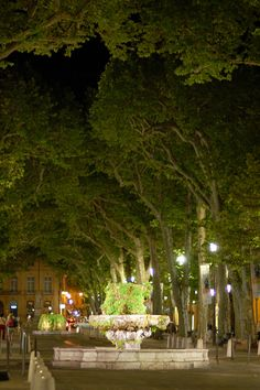 Le Cours Mirabeau (est) a nuit, Aix-en-Provence, France - Tap the link to see the newly released survival and traveling gear for all types of travelers! Aix En Provence, La Provence France, Paris France, Provence Style, Places To Travel, Places To Visit, Belle France, French Countryside, What A Wonderful World
