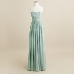 Dusty Shale Arabelle Chiffon Floor Length Bridesmaid Dress. $365
