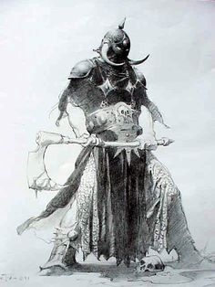 Death Dealer pencil - Frank Frazetta