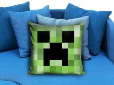Minecraft Creeper Pillow case #pillowcase #pillow #cover #pillowcover #printed #modernpillowcase #decorative #throwpillowcase
