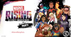 Apply to host a FREE Marvel Rising: Secret Warriors Party! They have spots available. Party will be October Free Baby Samples, Free Samples By Mail, Secret Warriors, Chica Cool, Squirrel Girl, Marvel Drawings, Young Avengers, Party Kit, Party Ideas