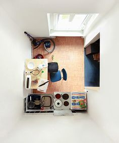 """ryanpanos: """" Room Portraits by Menno Aden Through challenging camera angles Menno Aden abstracts most familiar actual living environments and public interiors into flattened two-dimensional scale. Scenery Pictures, Living Environment, Environment Concept, Birds Eye View, Abandoned Houses, Architecture Design, Living Spaces, Work Spaces, Layout"""