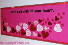 Church Bulletin Board Ideas   Valentine's Day Church Bulletin Board Display   Homemaking with Monica