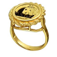 Gold Panda ~5 Ring Type 14mm Coin Capsule For Chinese 1//20 oz