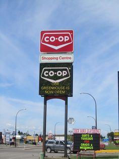 Co-op St. Paul in St. Paul, Alberta. LED display by