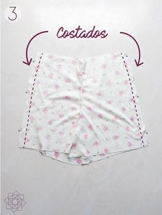 Costura fácil: Short de pijama. | Nocturno Design Blog Sewing Shorts, Sewing Clothes, Costura Diy, Design Blog, Pants Pattern, Refashion, Diy And Crafts, Sewing Patterns, Underwear