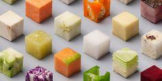 【画像】98種類の食材を「さいの目」に切ったらアートになった http://huff.to/1KfGWXf