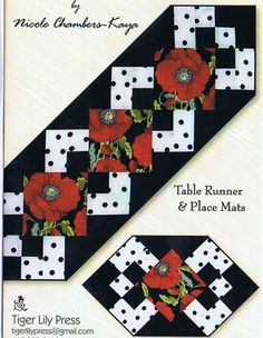 Simply A Pleasure Table Runner and Place Mat Pattern by Nicole Chambers