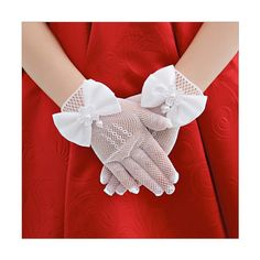 Girls Satin Wrist Gloves Wedding Costume Special Ocassion Dress Up 1 to15 Years Gloves